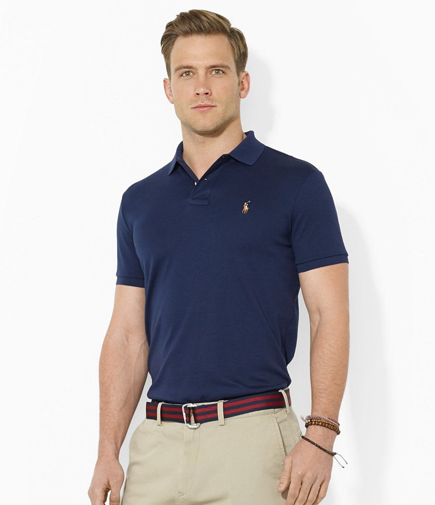5a8af2d84295 Riviera Navy Polo Ralph Lauren Classic-Fit Pima Soft-Touch Polo Shirt