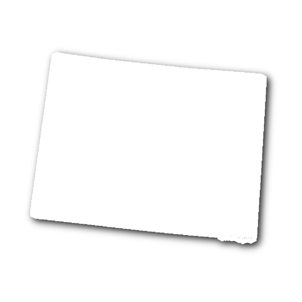 Colorado State Shape Outline Sticker White State Shapes Wyoming State Wyoming