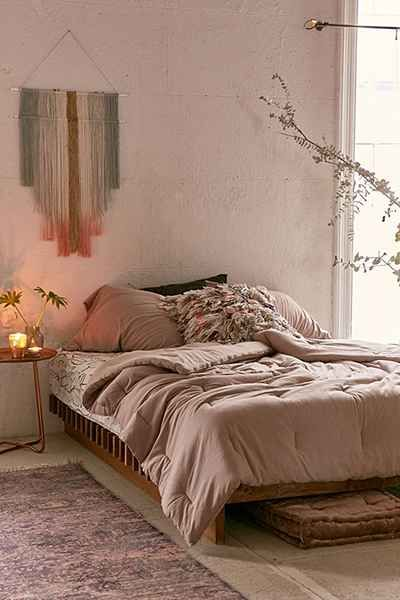 Pink Blush Sheets And Duvet Love This Boho Bedroom Wohnen Haus