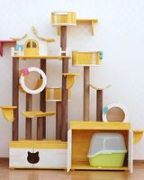★ The Happy Happy playground wood butterfly cats