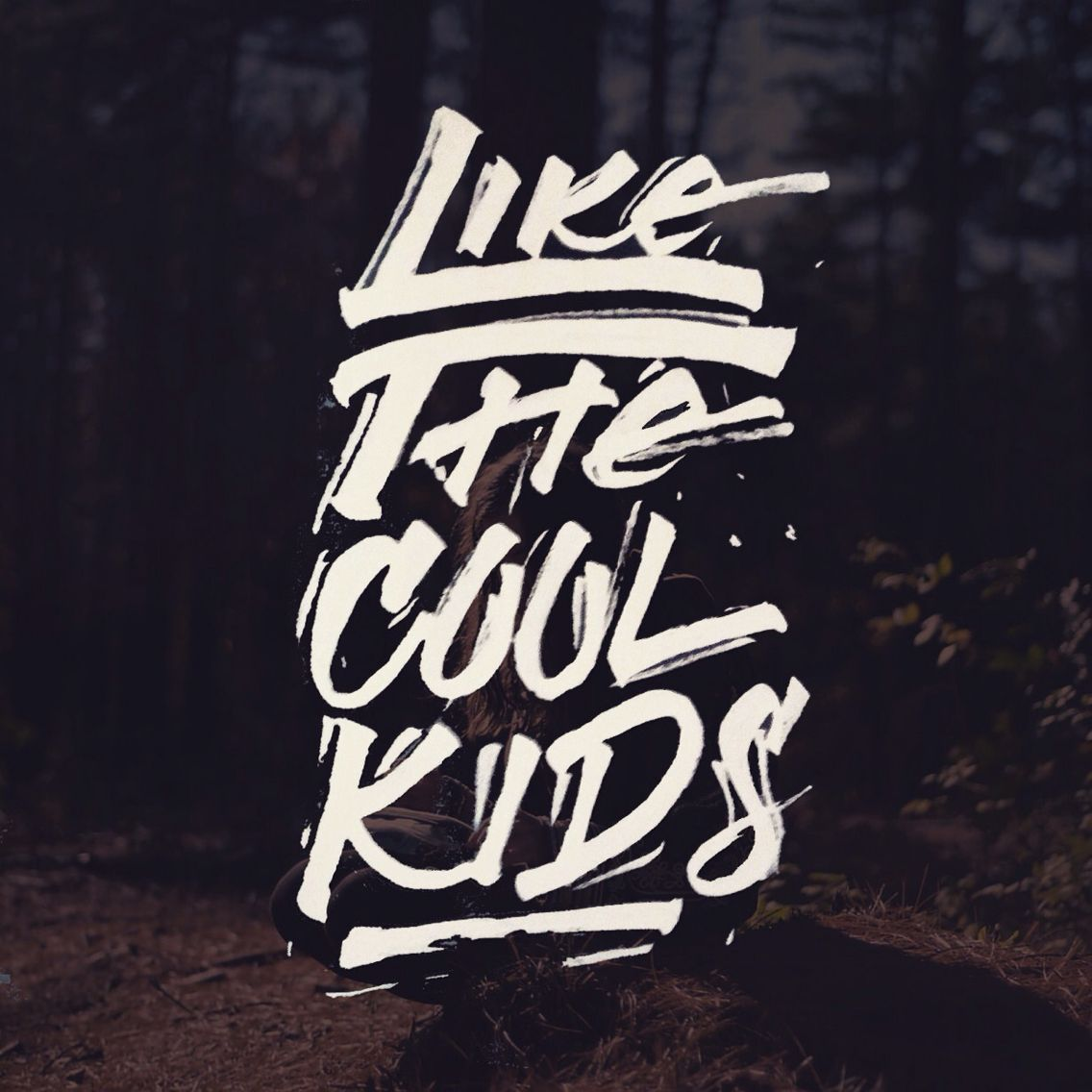 Cool kids - Echosmith. Used Pentel Pocket Brushpen for this one #calligraphy #brushpen #lettering