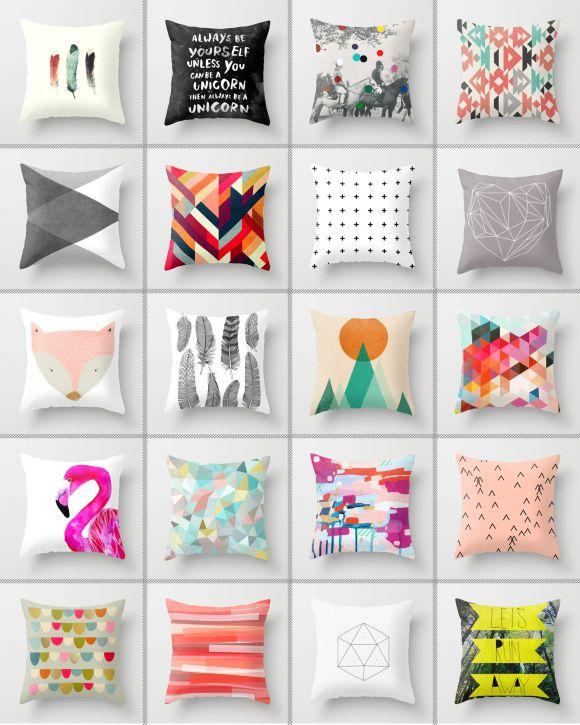 Society 6 Cushions   Mix It Up