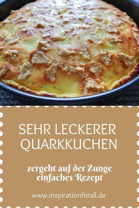 Quarkkuchen – einfaches & schnelles Rezept für zarten Kuchen mit Quark