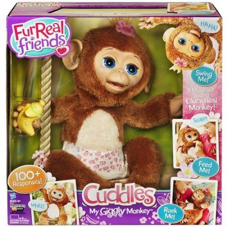 FurReal Friends Cuddles My Giggly Monkey Pet, Multicolor