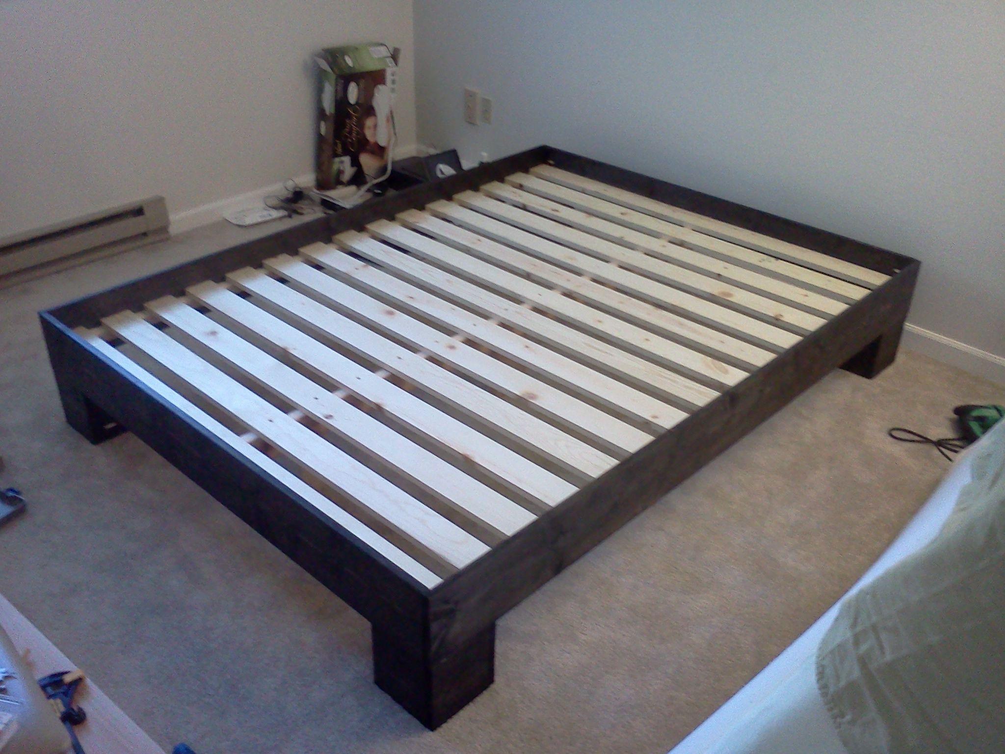 make your own platform bed frame woodworking workshop - Diy Full Bed Frame
