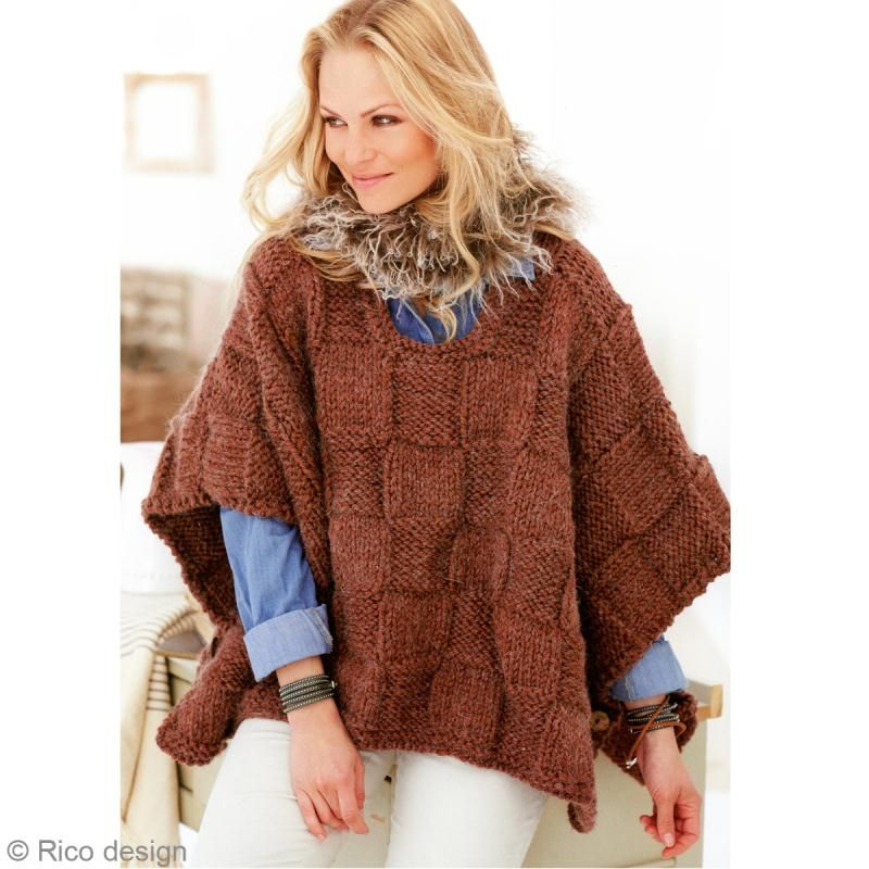 Free Slip Stitch Knitting Patterns : Modele tricot : Poncho femme - Idees conseils et tuto Crochet et tricot Pon...