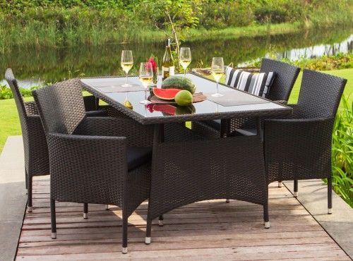 Kubus Table Kenzo Chair Patio Dining Set Patio Chairs Outdoor Furniture Sets