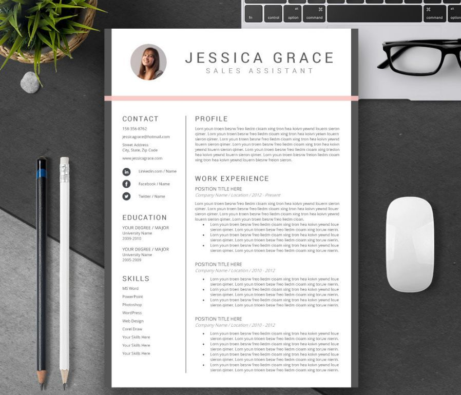 Consulting Resume Template Word, PSD and InDesign Format - contacts template word