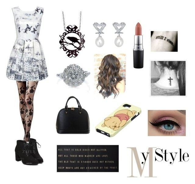 """""""Untitled #21"""" by jadahoran123 ❤ liked on Polyvore featuring Sugarboo Designs and MAC Cosmetics"""