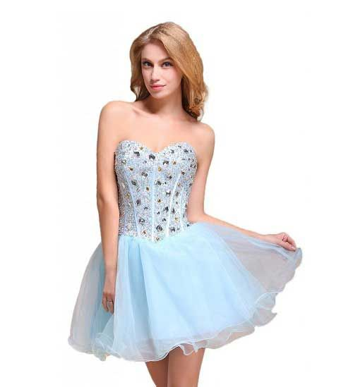 Cute baby light blue prom dresses 2015 | dresses | Pinterest ...