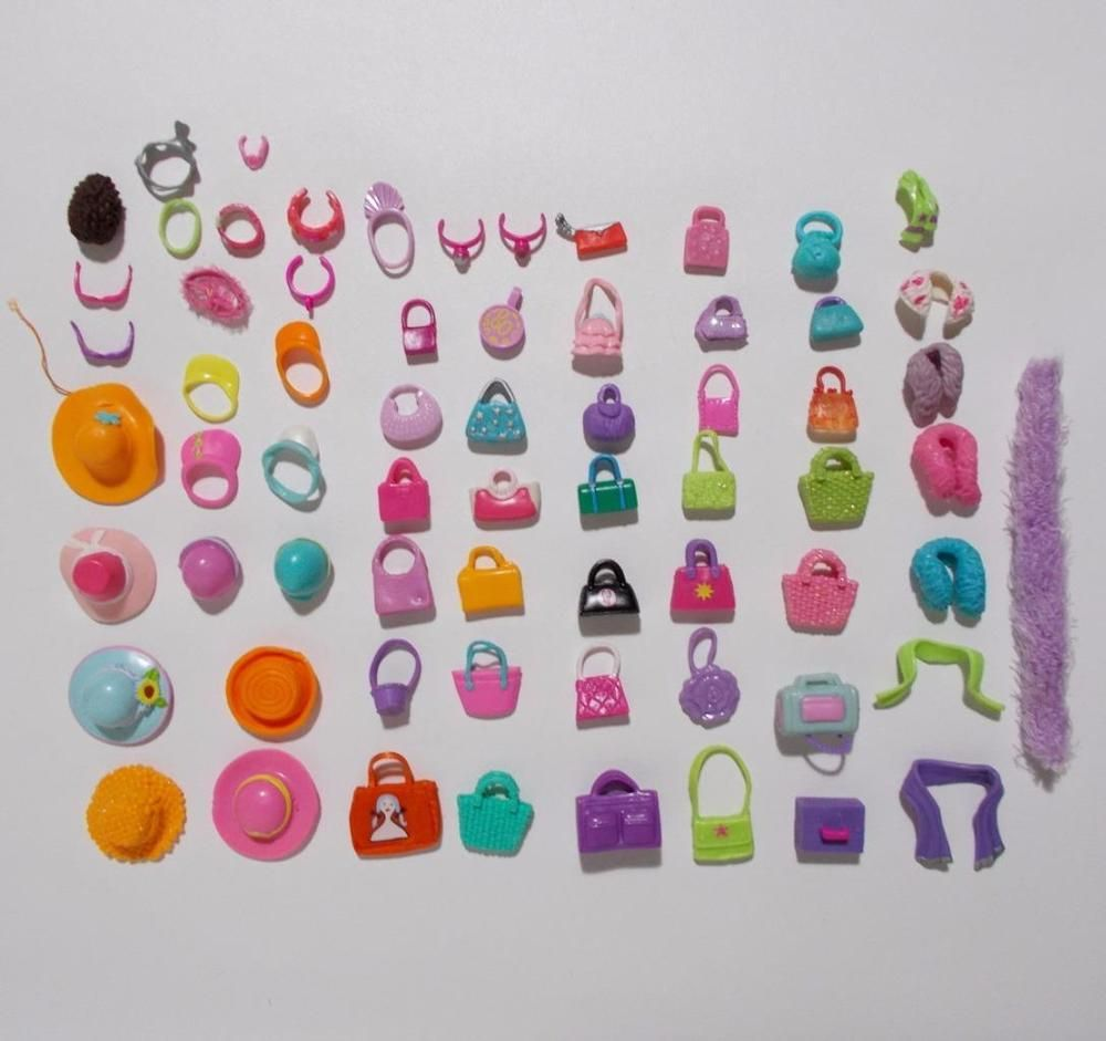 Polly Pocket Accessory Lot 64 Pieces Purses Hats Wraps Jewelry More #Mattel #ClothingAccessories