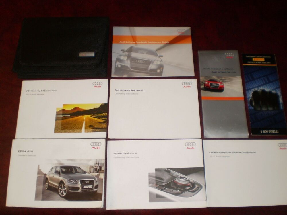 Ebay Sponsored 2010 10 Audi Q5 Complete Suv Owners Manual Books Navigation Guide Case All Model Honda Insight Audi Car Owners Manuals