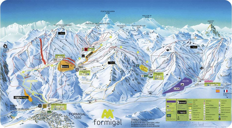 Formigal Snowboarding In The Pyrenees Skigebied Spanje Wintersport