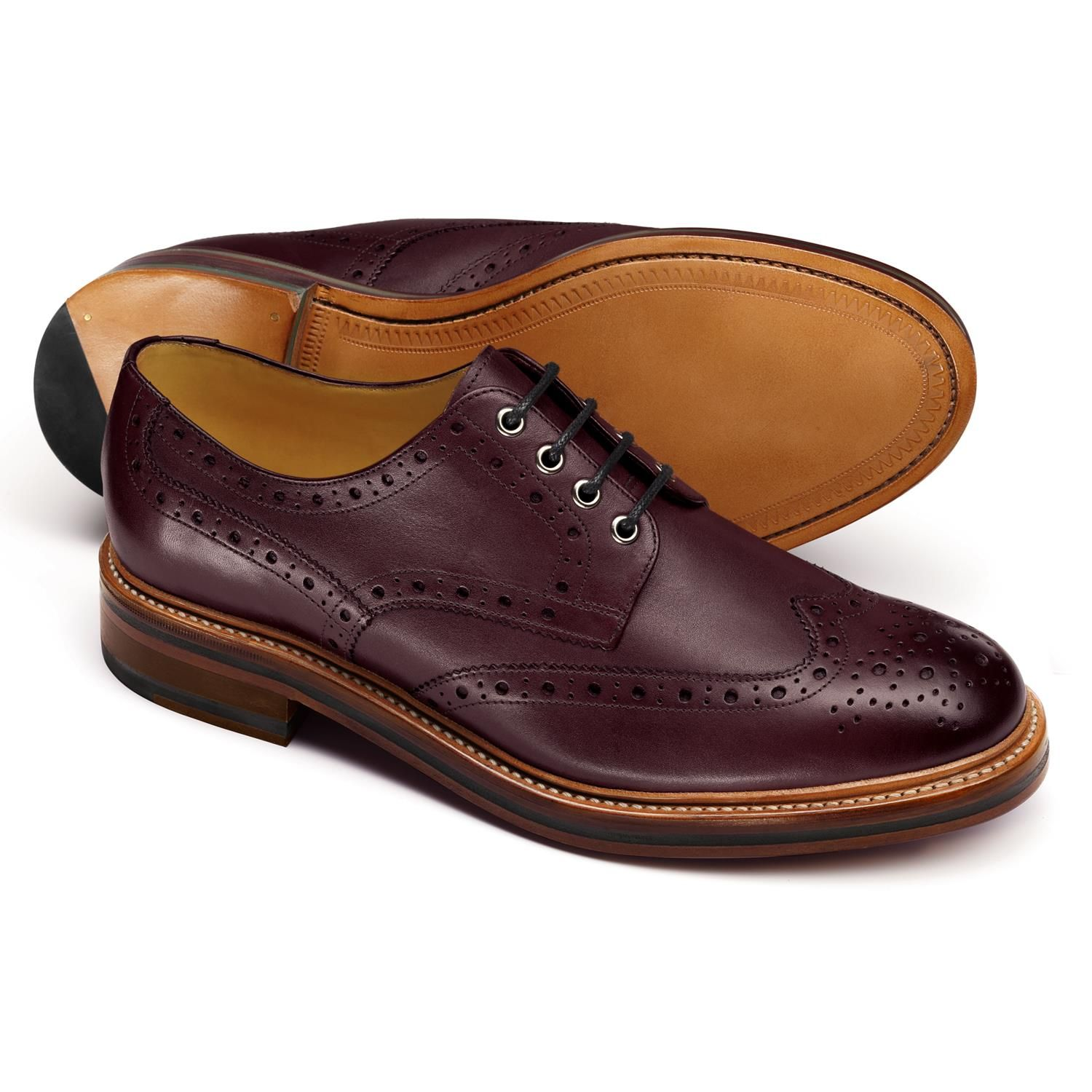 Brown Charles Stone Wingtip Oxfords Full Brogue Men/'s Dress Leather Shoes