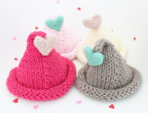 Valentine's Day hand knitted Hat