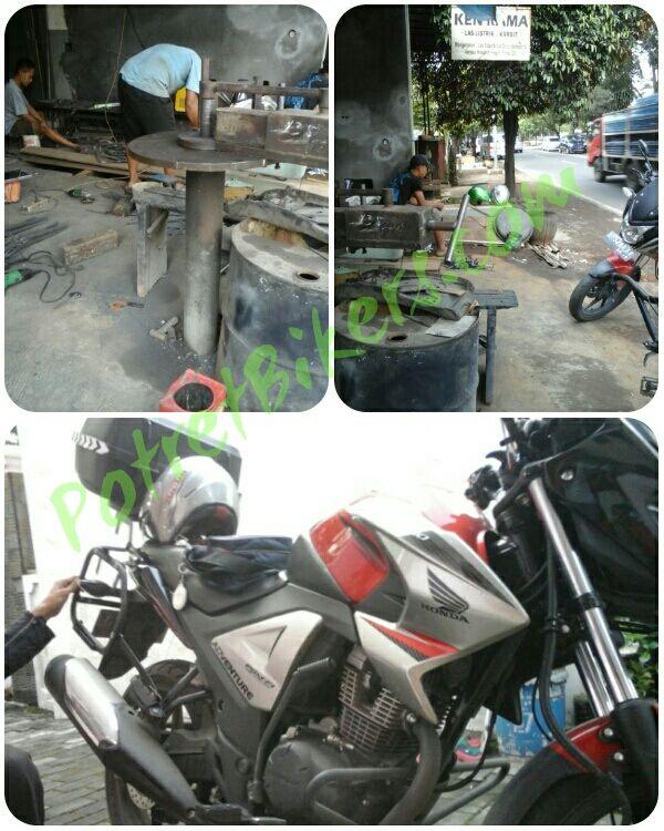 Pasang Bracket Side Box Honda Nmp New Mega Pro Fi Di Ken Rama