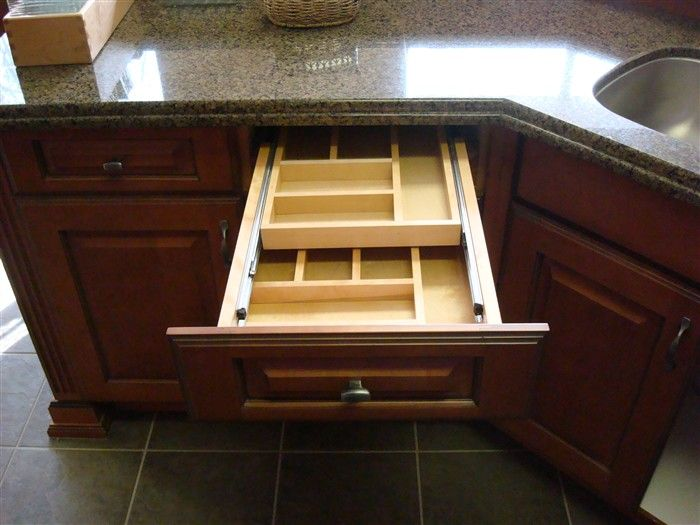 Two Tiered Cutlery Drawer Home Remodeling Kitchen