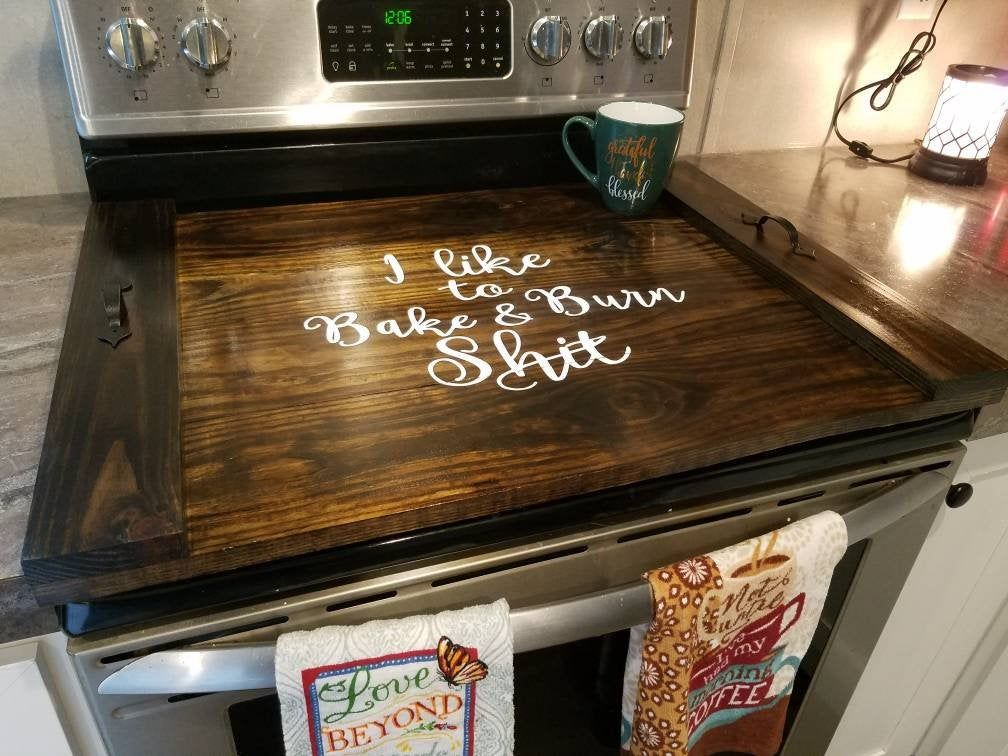 Stove Top Cover Noodle Board Serving Tray Personalized Home Kitchen Decor