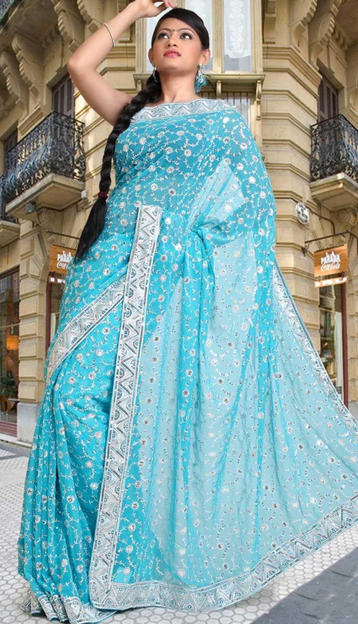 blue indian wedding dresses   Sisters wedding ideas   Pinterest   Saree
