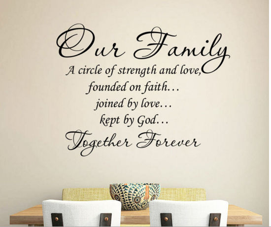 Inspirational Quotes About Family Love: Our Family Is A Circle Of Strength And Love