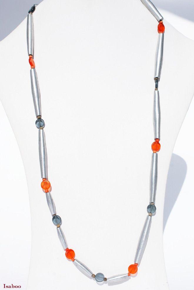 Collana Murano Arancio