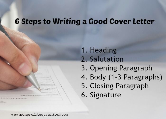 6 Steps To Writing A Good Cover Letter More About
