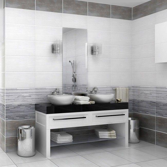 Glazura Centro 30 X 60 Cm Grafitowa 1 08 M2 Plytki Scienne Plytki Scienne Podlogowe I Elewacyjne Vanity Bathroom Double Vanity