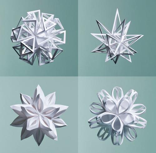 Paper Sculptures byMatt Shlian.