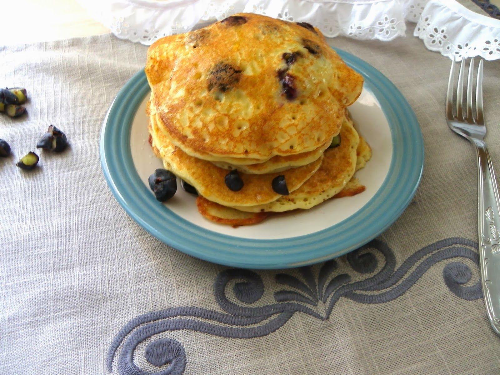 Pancakes aux myrtilles sans oeuf sans lait et sans gluten - Cuisinez gourmand sans gluten sans lait sans oeufs ...