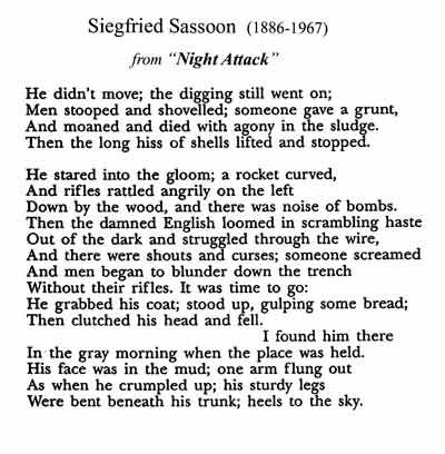 does it matter siegfried sassoon analysis Siegfried sassoon's great-grandfather david sassoon was born in baghdad but   oratory or political analysis, however, and did not pursue the career in public  life  much of the matter in the paragraphs encircled on the right-hand page was .
