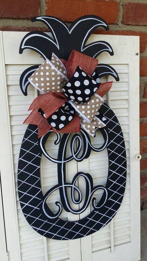 4th Of July Pineapple Door Hanger