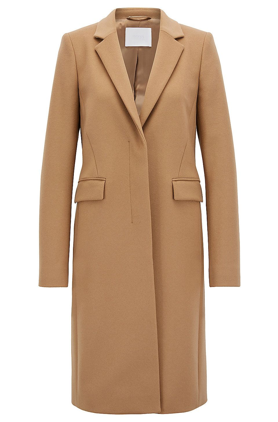 Blazer Style Coat In Italian Virgin Wool And Cashmere Brown Jackets And Coats From Boss For Women In The Official Hugo Boss Braune Jacke Mantel Mantel Braun
