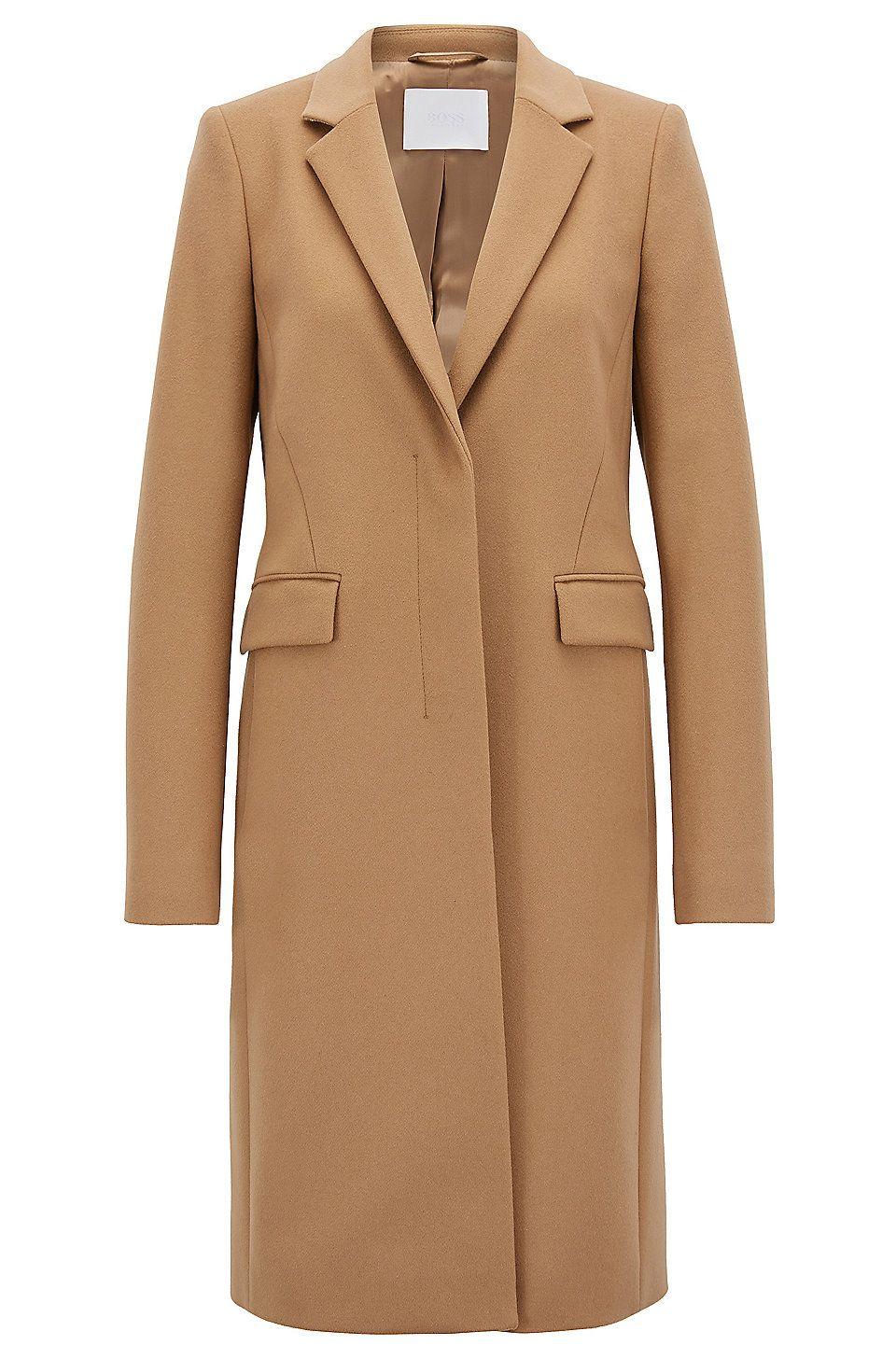 1700e156da4 Regular-Fit Mantel aus italienischem Schurwoll-Mix mit Kaschmir - Braun  Jacken und Mäntel