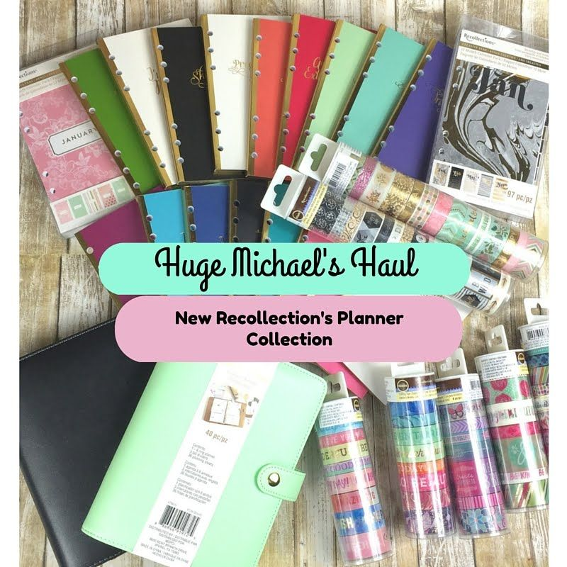 Huge Michael's Recollections Planner Haul- Featuring ALL