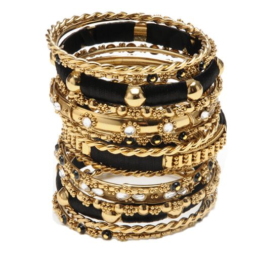 bangles Amrita Singh gold jewelry black and gold JEWELS