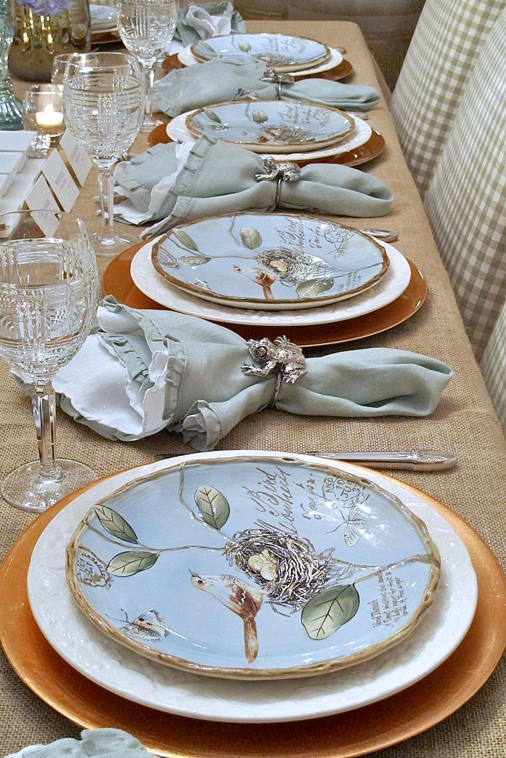 Spring Plates A Nature Inspired Rustic Table Setting Tablescapes Table Settings Table