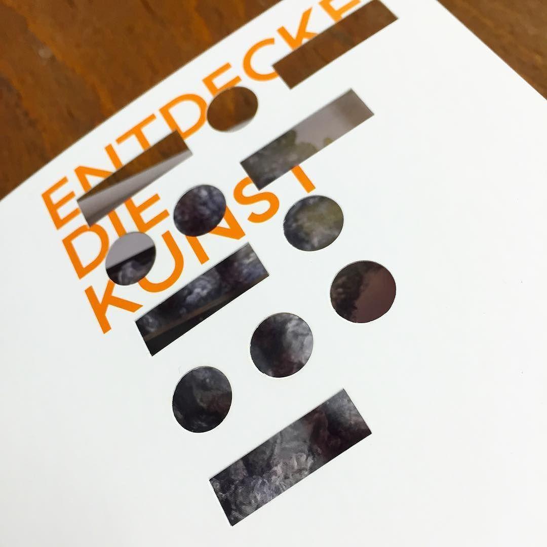 Just a few more days till #emscherkunst opening! #invitation #diecut #pantone #151 #print #graphicdesign #typography #design #graphic #entdeckediekunst