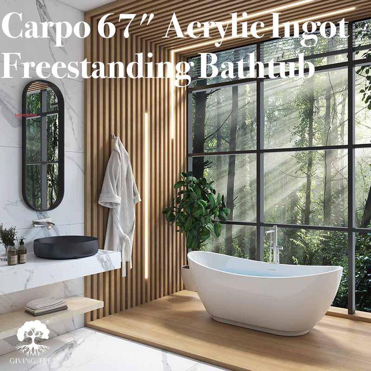 Acrylic Ingot Freestanding Bathtub  bathroom  roomdecor  homedecor