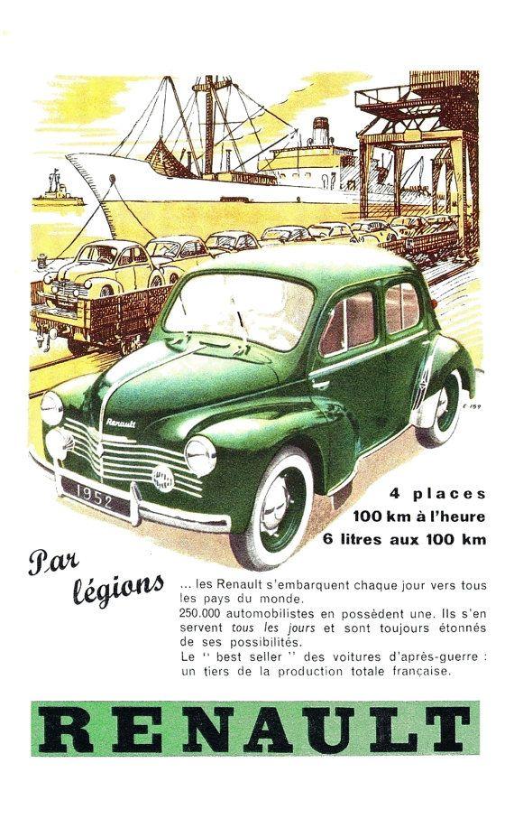 https://www.etsy.com/fr/listing/484595784/affiche-renault-4cv-1952 ...