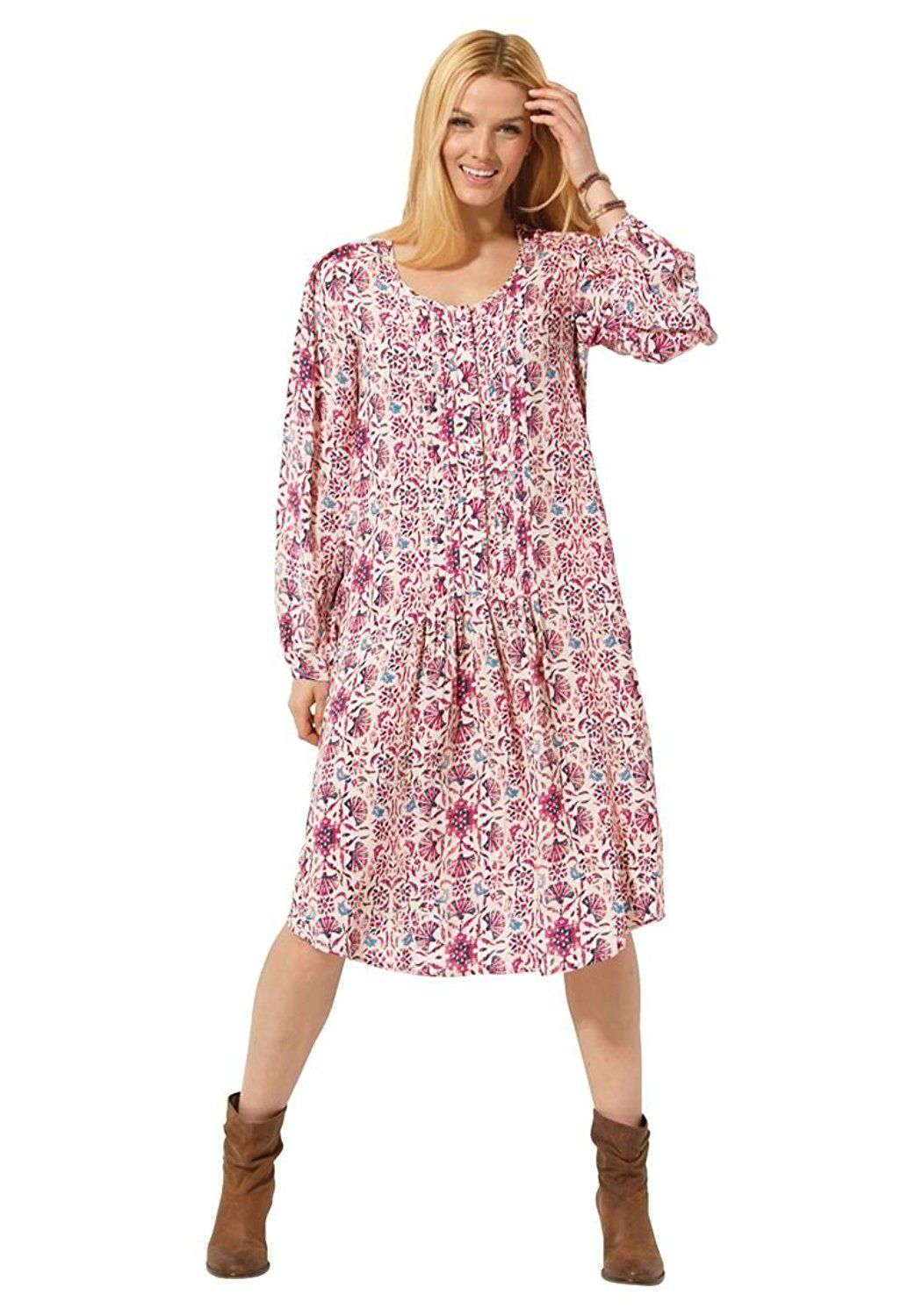 Women's Plus Size Pintuck Shirt Dress >>> Special  product just for you. See it now! : Plus size dresses