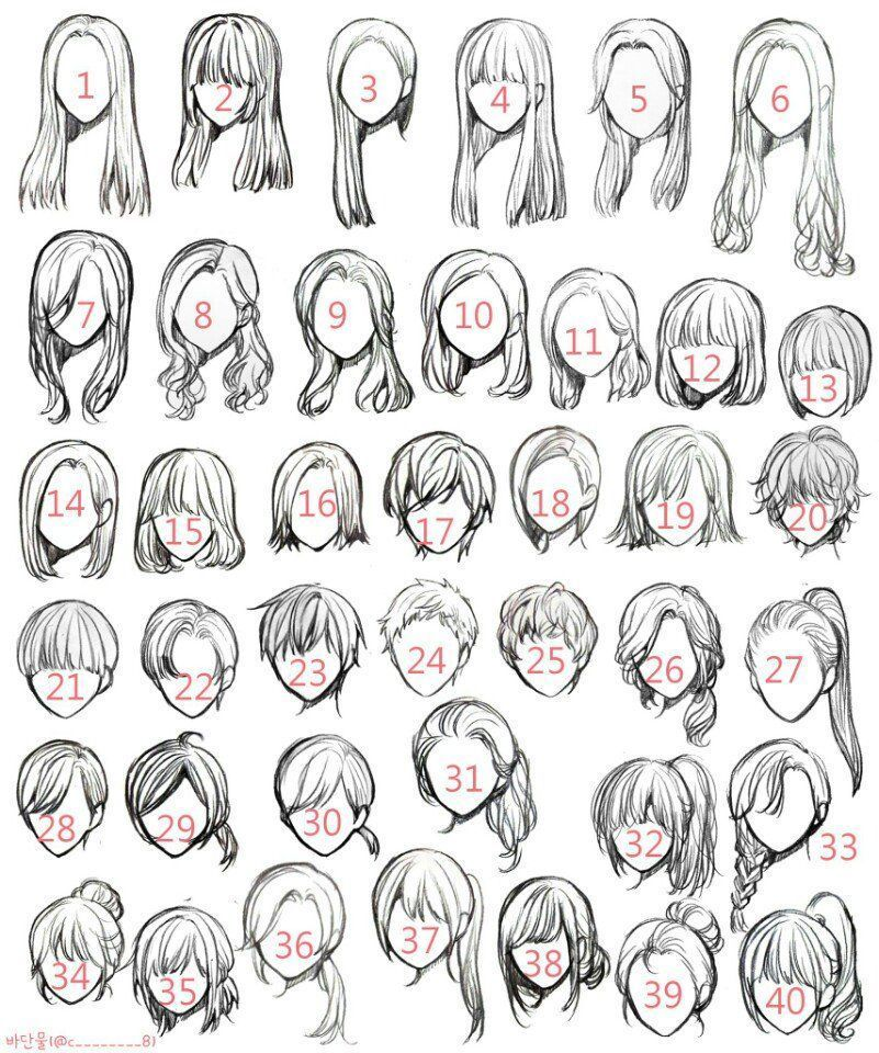 Female Hairstyle Ideas Drawing Hair Tutorial Girl Hair Drawing Art Reference Poses