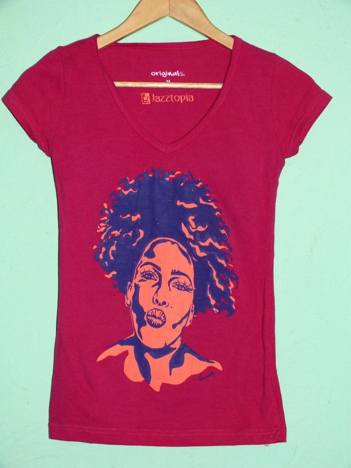 Camiseta Nancy Grey magenta