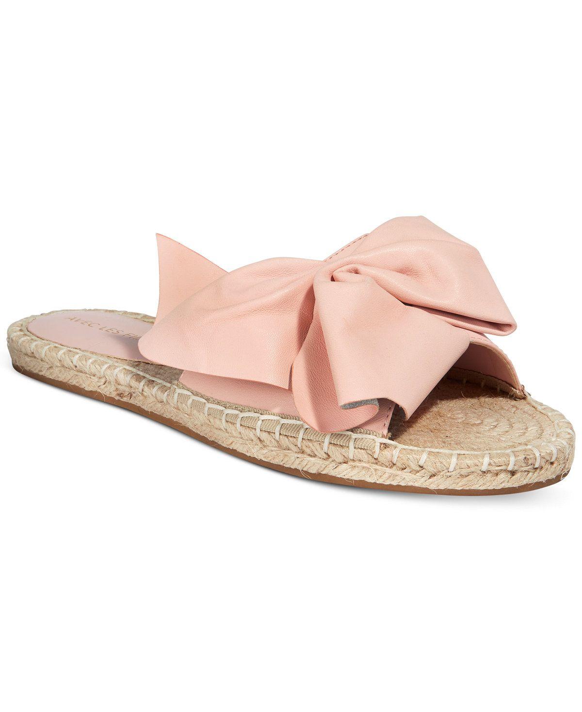 beaa78a99029 Avec Les Filles Gemma Slide Bow Sandals - Avec Les Filles - Shoes - Macy s