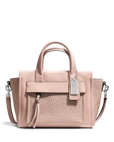 c5229e7961 COACH Pink Bleecker Mini Riley Crossbody Carryall