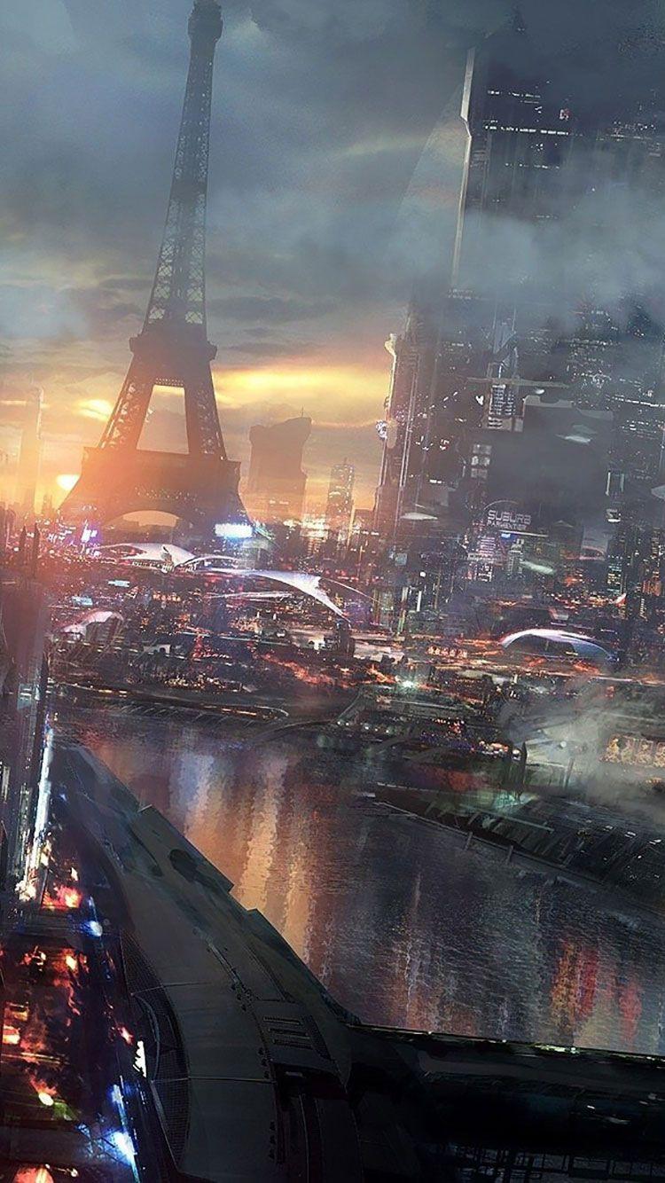 Iphone Wallpaper Sci Fi 270 In 2020 City Iphone Wallpaper Sci Fi Wallpaper Futuristic City
