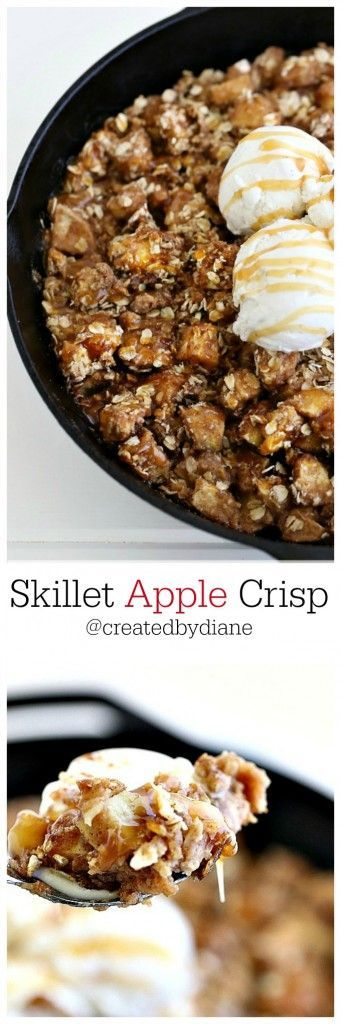 skillet apple crisp recipe from createdbydiane Skillet