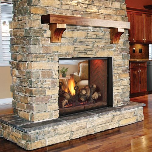 The Covington See Thru Direct Vent Fireplace Offers A