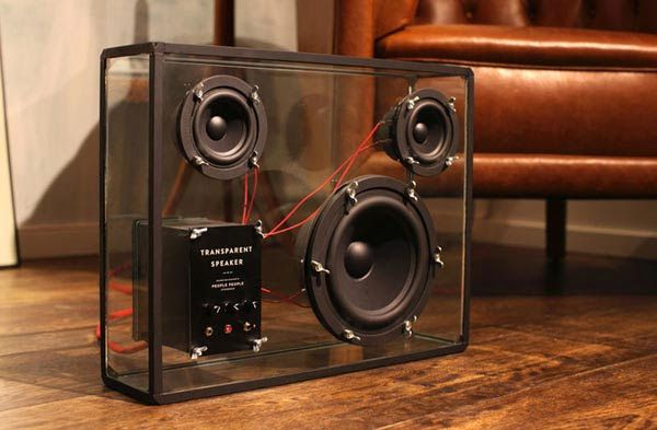 Transparent Speaker: Unlike the usual speakers that are mostly boring, these speakers are timeless design that emphasizes what matters most, the music.