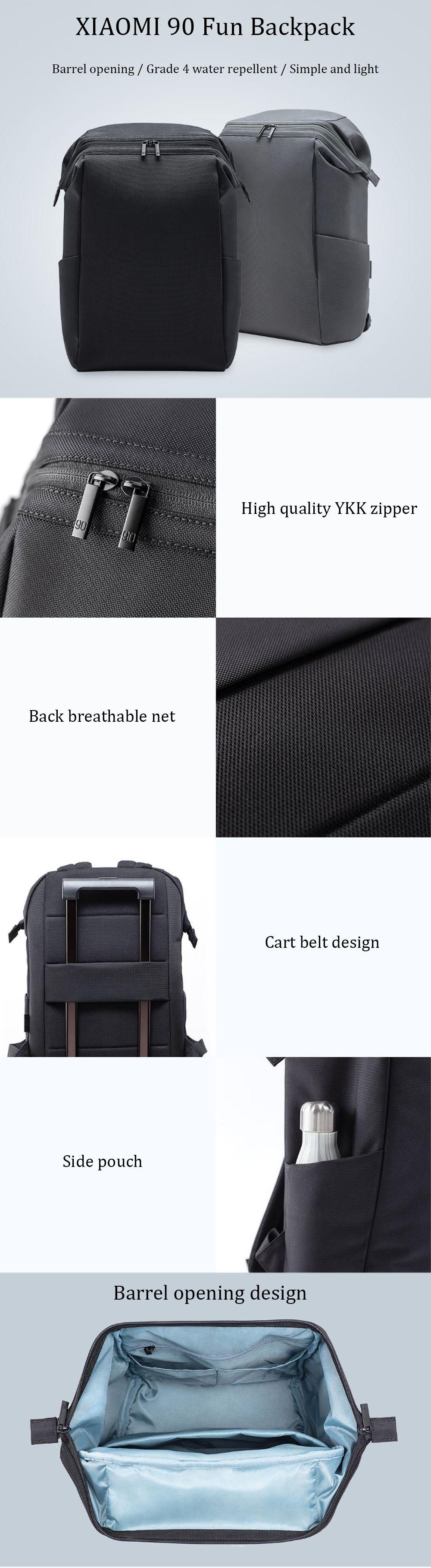 bd1594dbd9 Xiaomi 90 Fun Backpack 15.6 Inch Laptop Bag Level 4 Water Repellent Travel  Leisure Shoulder Bag  Banggood  Xiaomi  90  Fun  Backpack  15 6  Inch   Laptop ...