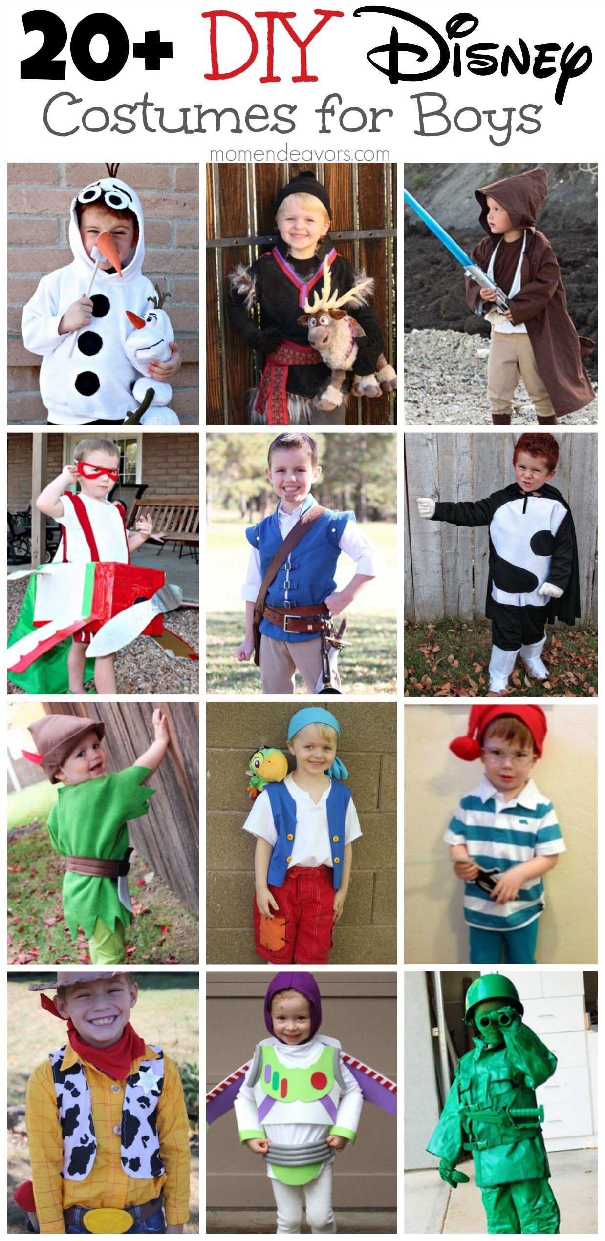 20+ DIY Disney Costumes for boys! So many great ideas